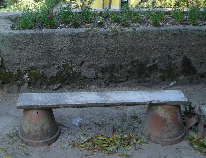 Garden bench in Sintra