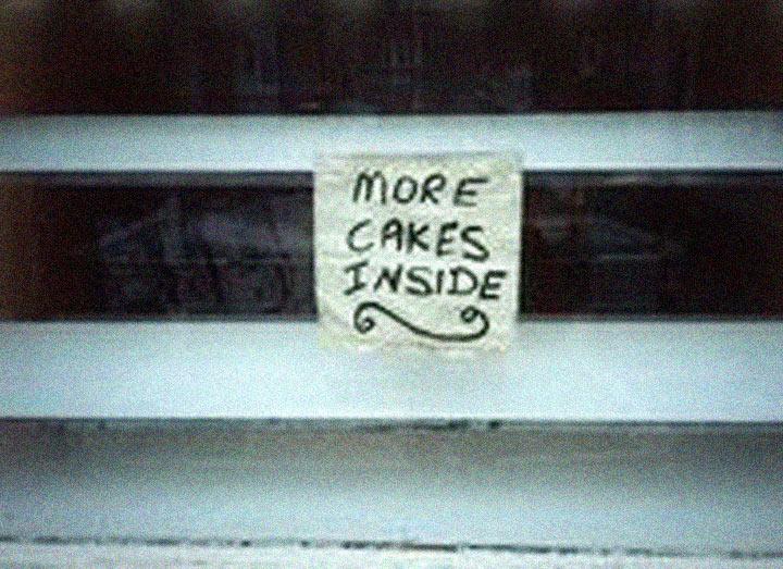 Cake shop window image