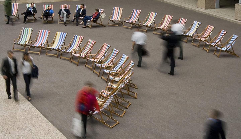 Custom deckchair installation, Presidency of the European Council, Justus Lipsius