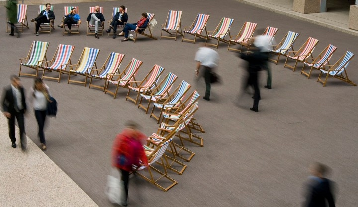 Custom deckchair installation, Presidency of the European Council, Justus Lipsius