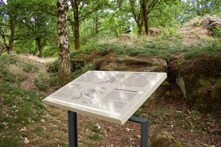 Heritage site signage, vitreous enamel