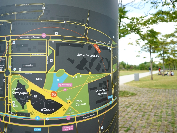 Signage project Kirchberg
